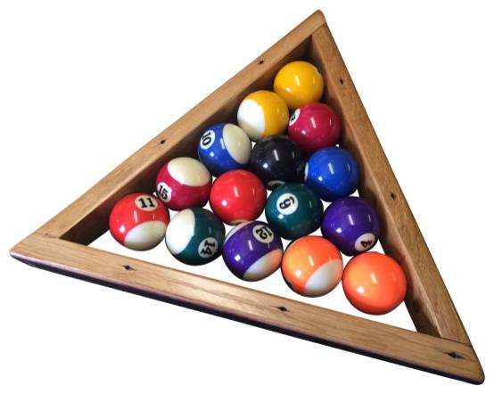Wine Barrel Pool Triangle Rustic Game Table