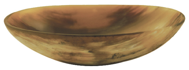 Light Horn Oval Bowl Large  sc 1 st  Houzz & Light Horn Oval Bowl Large - Rustic - Decorative Bowls - by Be Home