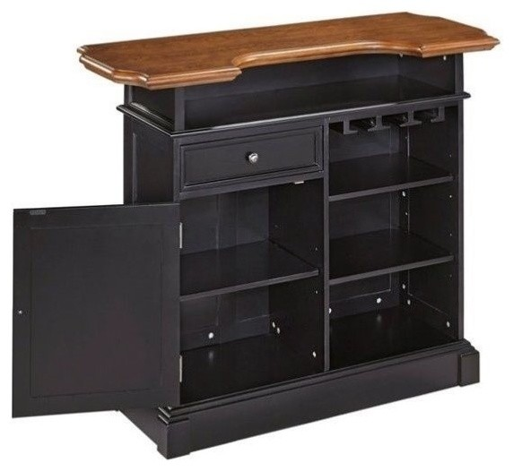 Shop Houzz | Hawthorne Collections Hawthorne Collections Home Bar, Black Oak - Wine And Bar Cabinets