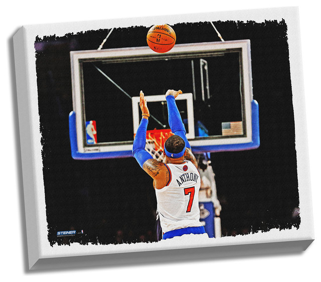Game Room Wall Art carmelo anthony shooting back view 22x26 canvas - contemporary