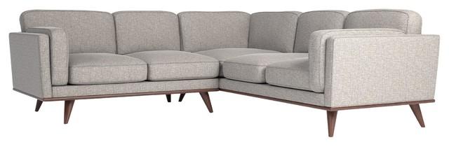 Manu Silver Gray Corner Sofa