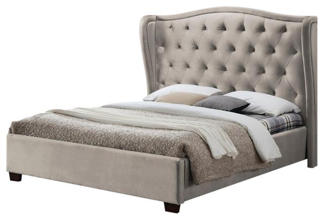 Lauren Upholstered Bed Frame, Super King, Champagne