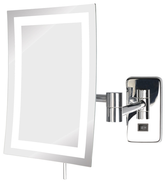 Carlow Wall-Mounted Led Mirror, Direct Hardwire.