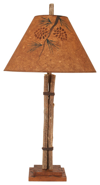 Twig & Leather Table Lamp.