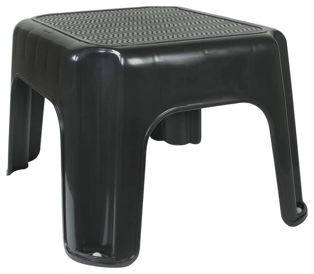 Strange Rubbermaid 12 25X10X7 12 Small Black Step Stool Inzonedesignstudio Interior Chair Design Inzonedesignstudiocom
