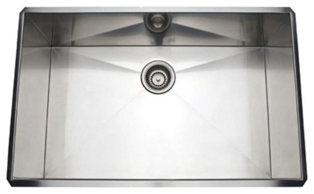 Rohl Italian Stainless Steel Forze Single Bowl Kitchen Sink, Brushed ...