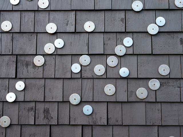 Example of a trendy home design design in Boston