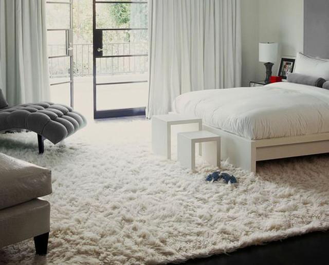 "Super Thick 10&x27;x7&x27; White Flokati Rug, Plush 3.25"" Wool Pile."