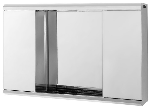 """32"""" Cambrian Led Medicine Cabinet, Stainless Steel."""
