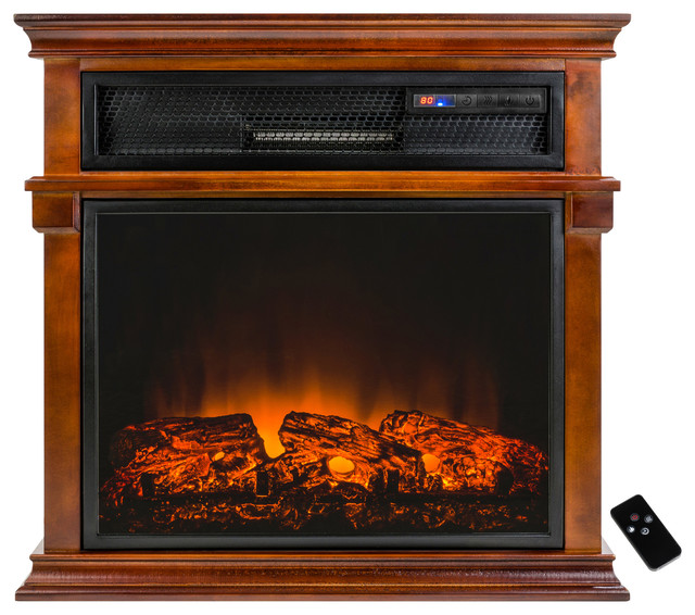 AKDY Freestanding Electric Fireplace Heater With Tempered