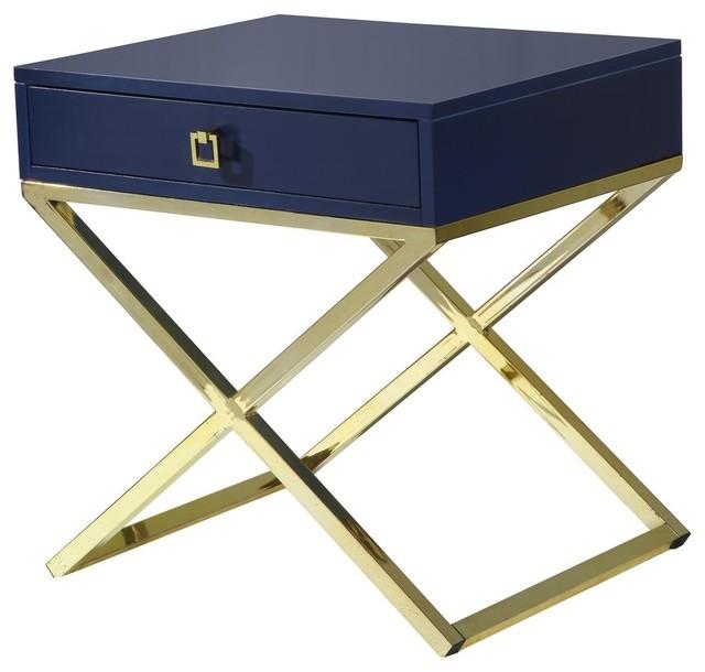 Bogart Lacquer Finish X Metal Leg Side Table 24 Quot X20 Quot X25