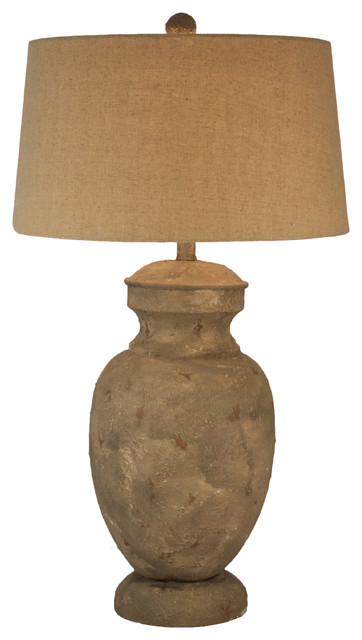 Mason 33 Resin Classic Table Lamp Brown With Usb Port And Drum Shade.