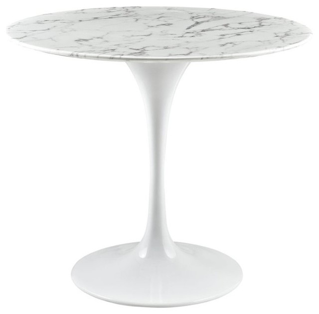 Modway Lippa Faux Marble Top Dining Table White 275  : dining tables from www.houzz.com size 640 x 630 jpeg 23kB