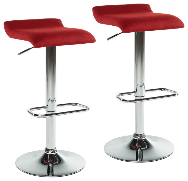 Backless Adjustable Height Stool Set Of 2 Contemporary