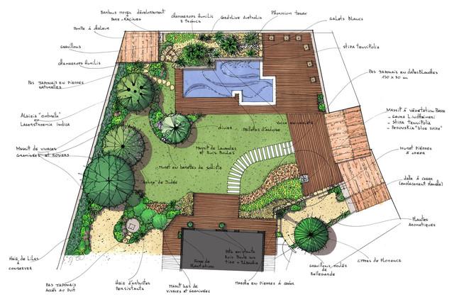 Jardin Provencal D Inspiration Contemporaine Contemporary Pool