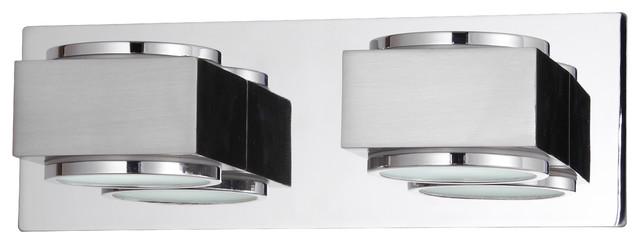 Valina Twin Bathroom Wall Light, Chrome