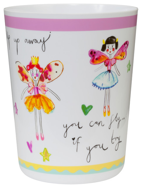 Faerie Princess Wastebasket Eclectic Kids Bathroom Accessories