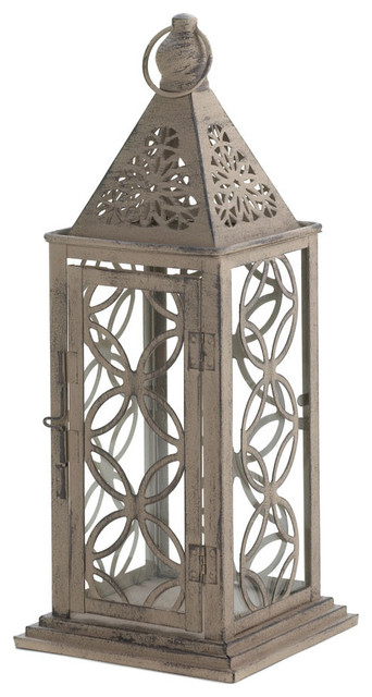 Antique Style Finish Lantern With Intricate Cutout