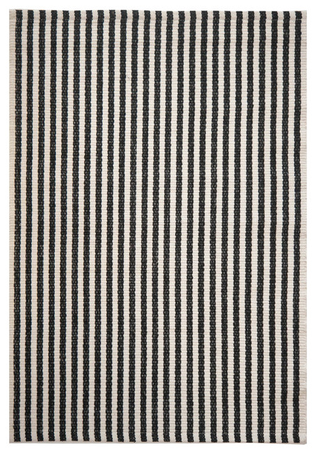 Chester Eco Cotton Rug Black And White 3x5 Area Rugs