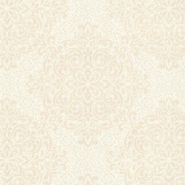 Gabrielle Cream Lace Feature Wallpaper - Contemporary ...