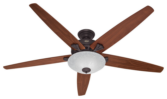 "Hunter 70"" Stockbridge New Bronze Ceiling Fan With Light."