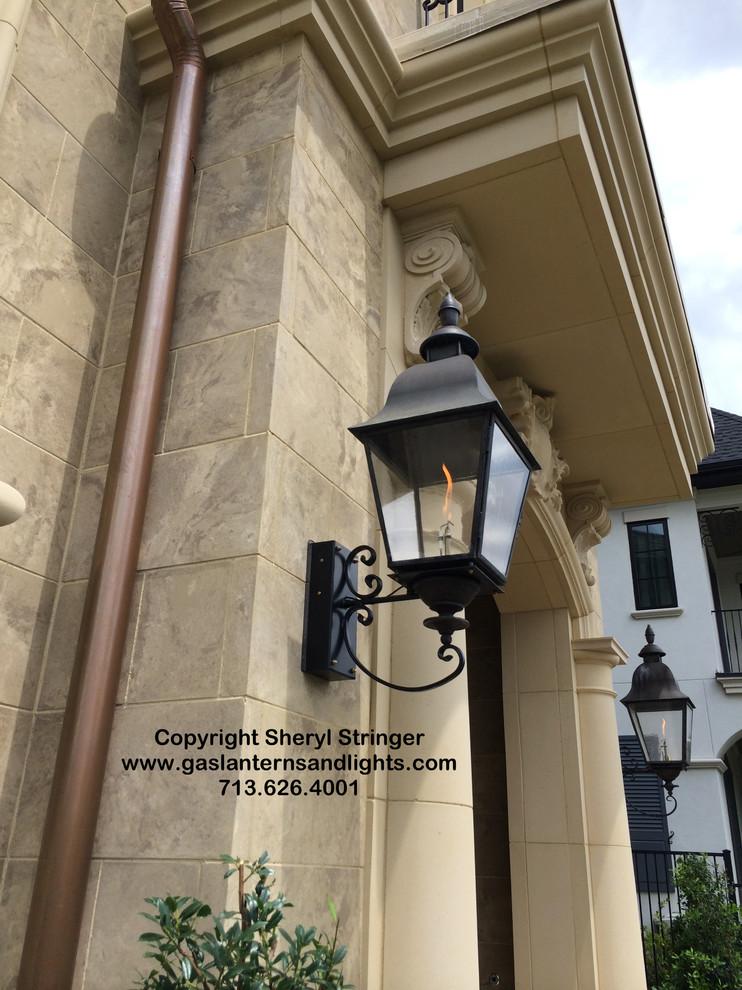 Tuscan Gas Lanterns on Bracket  by Sheryl Stringer
