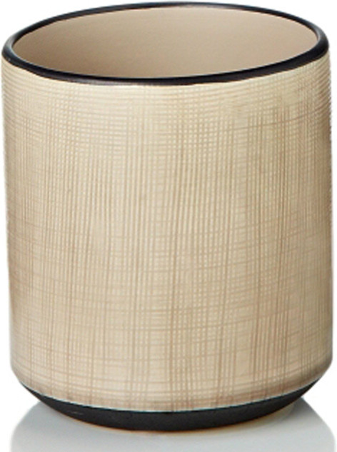 White Ceramic Round Pot Contemporary Indoor Pots And