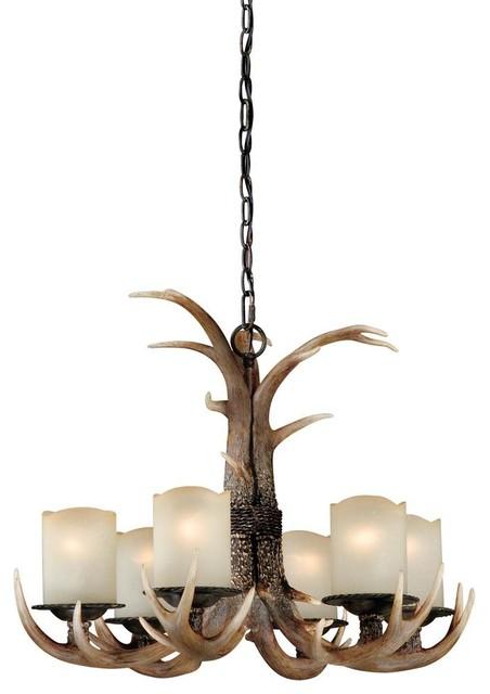 6light rustic chandelier