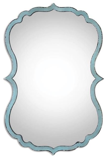Nicola Light Blue Unique Mirror.