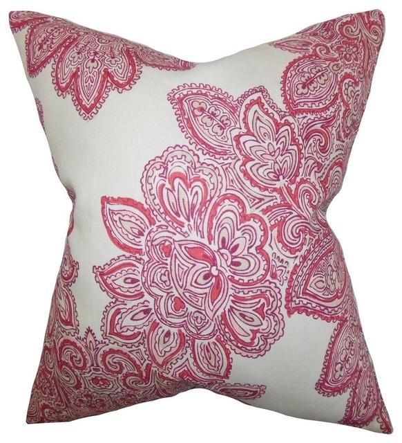Shop Houzz The Pillow Collection Inc. Haldis Floral Pillow Rose - Decorative Pillows