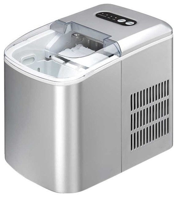 Spt Portable Ice Maker, Silver Im-124s.