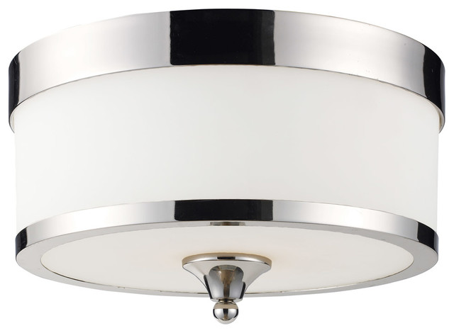 Cosmopolitan 3-Light Flush Mount, Chrome.