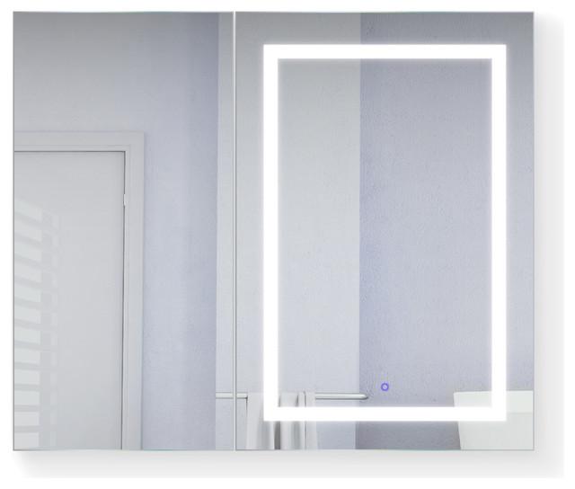 42 X36 Led Medicine Cabinet Dimmer, Lighted Medicine Cabinet With Defogger