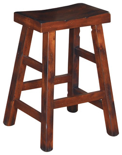 Prescott Saddle Seat Stool, Counter Height   Traditional   Bar Stools And  Counter Stools   By Sunny Designs, Inc.