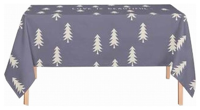 Linen Tablecloth Washable Tablecloth Table Cover Dinner Tablecloth Gray  Tree Contemporary Tablecloths