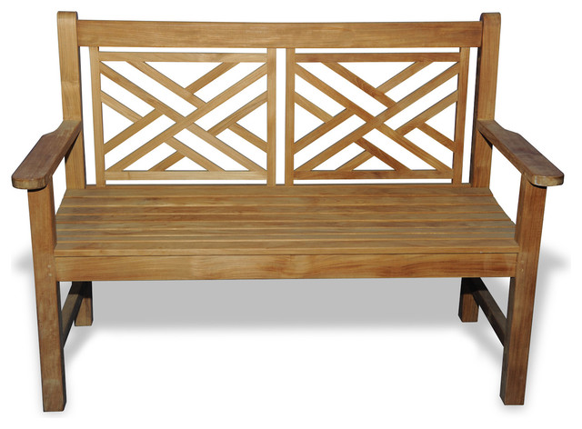 teak bench chippendale 4 39 rustic outdoor benches by