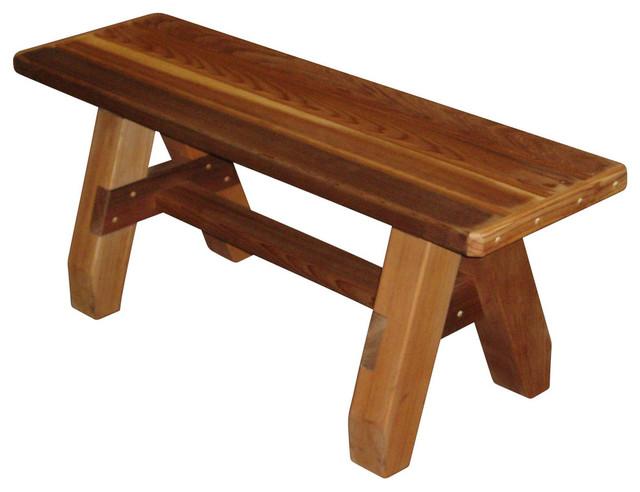 Strange Sports Bench Cedar Tone 5 Machost Co Dining Chair Design Ideas Machostcouk