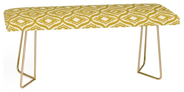Deny Designs Heather Dutton Trevino Yellow Bench. -1