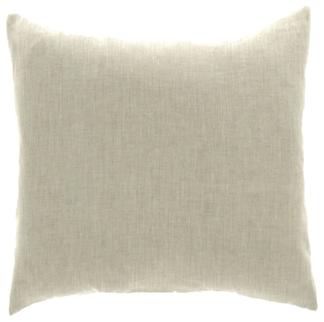 """Lino Natural Pillow Cover 20""""x20"""" 100% Pure Linen"""