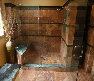 Exotic Shower Traditional Bathroom Cleveland By