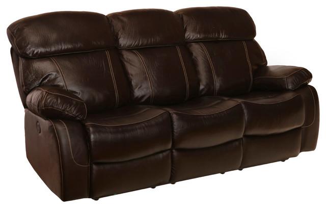 Coleman Top Grain Leather Reclining Sofa, Power.