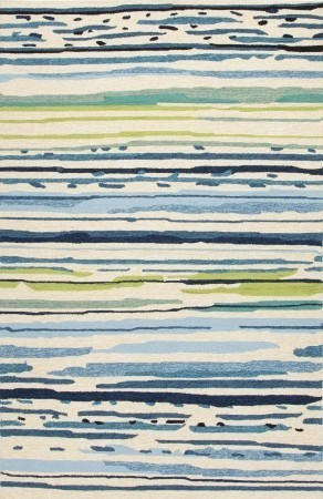 Jaipur Rugs Abstract Pattern Polypropylene Blue/Green Indoor   Outdoor Area  Rug Contemporary Outdoor