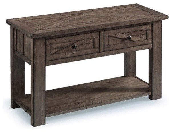 Sensational Magnussen Garrett Console Table Weathered Charcoal Squirreltailoven Fun Painted Chair Ideas Images Squirreltailovenorg