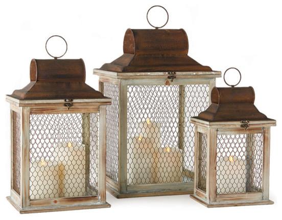 Timberlane Candle Lanterns Set Of 3