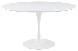 "Lippa 54"" Round Dining Table, White"