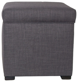Sole Secret Mini Lift Top Storage Ottoman, Gray With Red Tint