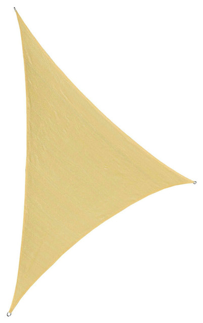 "Cool Area Right Triangle Oversized 16&x27;5""x16&x27;5""x22&x27;11"" Sun Shade Sail, Sand."