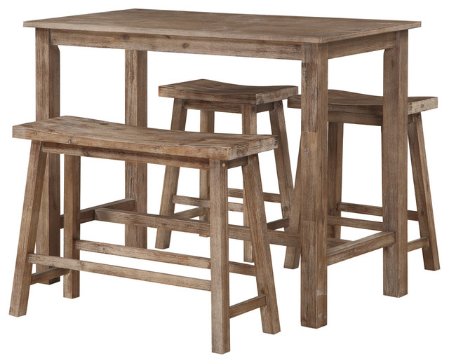 Charming Sonoma Pub Set 4 Piece Dining Set Contemporary Indoor Pub And