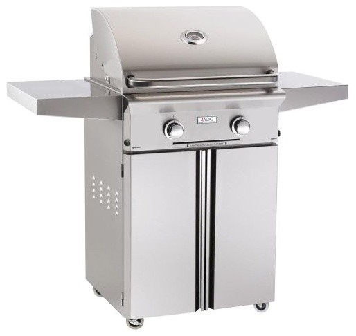 "36"" Aog Freestanding ""l"" Series Grill With Burner, Rotisserie, Natural Gas."
