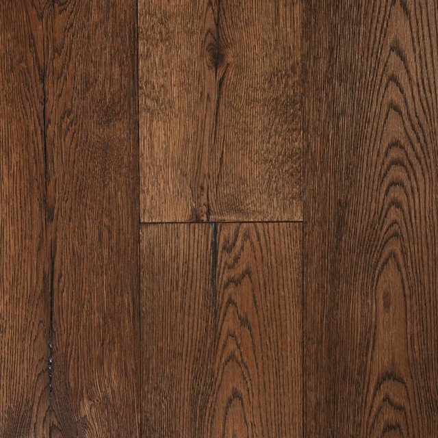 Engineered Hardwood Flooring, Vintange Brown, 30.3 Sq. ft. - Rustic - Engineered Wood Flooring ...